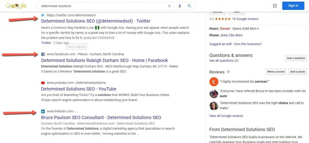 determined solutions brand search